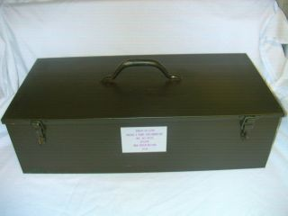 US MILITARY M1A2 Abrams / M 60 MBT TANK METAL TOOL BOX / CHEST 21x10