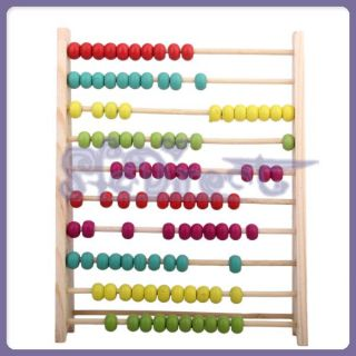 Number Color Learning Wooden Abacus Counting Frame Maths Aid