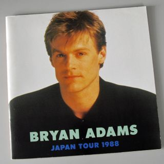 Bryan Adams Japan Tour 1988 Concert Program Book RARE
