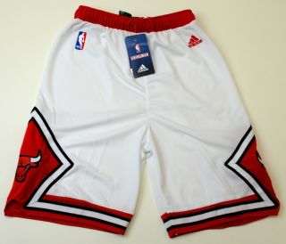 NBA Adidas Chicago Bulls Youth 2012 Stitched Home Shorts White New