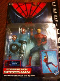 Power Punch Spiderman Movie Action figure toybiz marvel MOC spider man