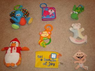 BABY TUMMY TIME ACTIVITY MAT RATTLE TOY LOT FISHER PRICE MONKEY