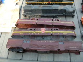 Toy Trains Lionel American Flyer Tyco etc Parts Cars Engines