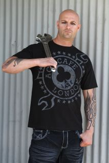 Lucky 13 Ace Cafe London Wrench Logo Official Shirt Motorcycle Shirt