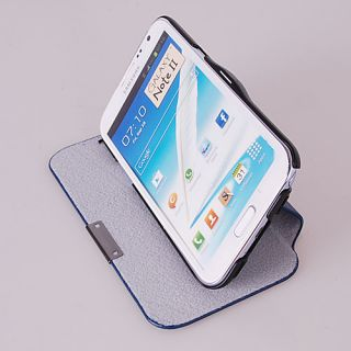 Luxury Slim Flip Stand Leather Case Cover for Samsung Galaxy NOTE2 GT
