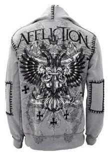 Genuine Affliction Triumph Eagle Hoodie Sweatshirt Track Jacket L XL