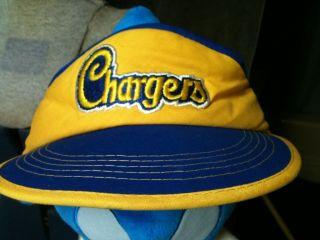 Vintage 70 80s SAN DIEGO CHARGERS logo NFL hat visor football