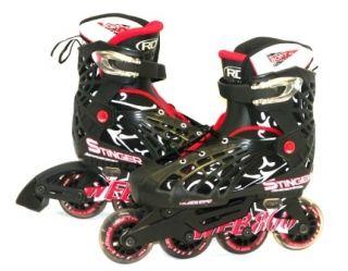 Roller Derby Web Stinger Adjustable Boys Inline Skates Medium 2 5