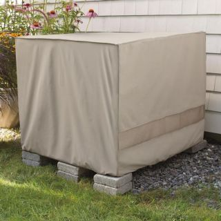 Weather Wrap Square Central Air Conditioner Cover Clay