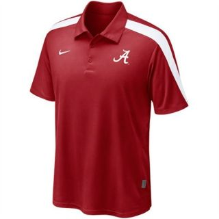 Alabama Crimson Tide Nike Dri Fit Dry Coaches Hot Route Polo Shirt L
