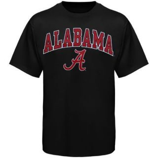 Alabama Crimson Tide Arched University T Shirt Black