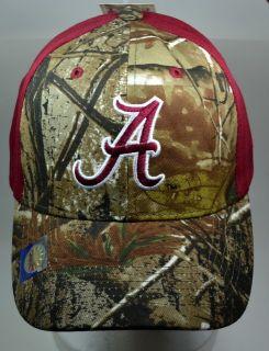 NCAA Alabama Crimson Tide Mossy Oak Camo Hat Cap New Adjustable Camo