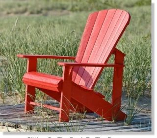 Adirondack Chair Recycled Plastic Beach Patio Outdoor Furniture Heavy