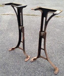 MACHINE AGE Industrial Adjustable Cast Iron Table Base Legs 18 24 #2