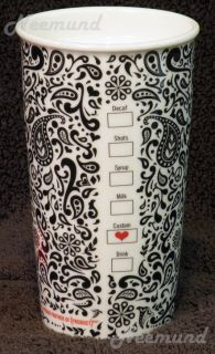 New Starbucks Jonathan Adler Red Ceramic Travel Mug