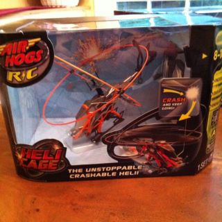 Air Hogs Remote Control Helicopter with Cage New in Box