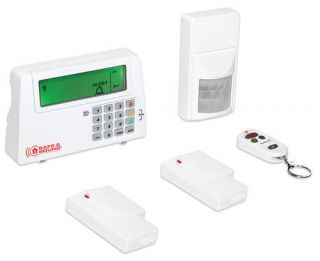 COMPLETE HOME WIRELESS ALARM SECURITY SYSTEM MONITOR SENSORS REMOTE