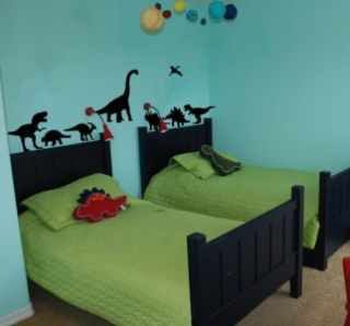 Set of Eight Dinosaurs Vinyl Wall Decal