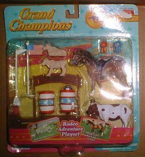 1998 NIP Grand Champions Rodeo Adventure Playset Mini Horse Accessory