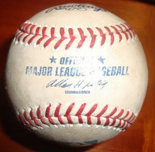 Albert Pujols Game Used Actual 461st Home Run Baseball Comerica Park 7
