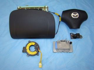 Mazda Miata Air Bag Airbag Set Module Sensor Clock Spring 01 02 03 04