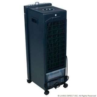 koldfront compact portable 3 speed air cooler w electronic control