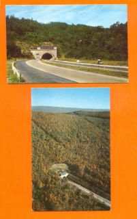 Postcards Pennsylvania Turnpike Allegheny Tunnel Cars