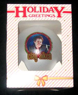 rare limited edition Clay Aiken ornament from the Joyful Noise Tour