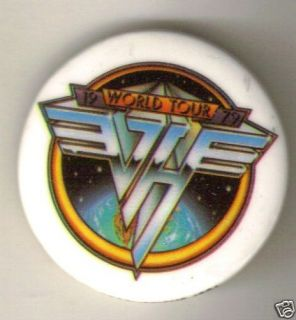 Van Halen 1979 World Tour Button Pin Alex Eddie