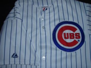 Alfonso Soriano Chicago Cubs Vtg MLB Jersey Authentic Majestic Large