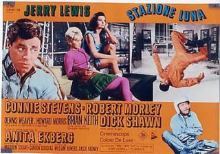 EI09 Way Way Out Jerry Lewis 10 RARE Orig Poster Italy