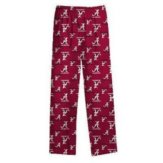 Alabama Crimson Tide PJ Lounge Pants Pajama Kids Boys MD Fits 5 6 Year