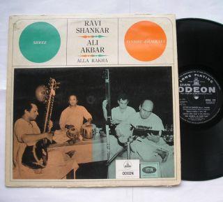 RAVI SHANKAR ALI AKBAR KHAN RAGA Sitar Sarod ORIG India 1965 ODEON LP