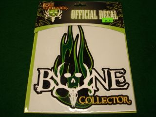 Bone Collector Green Flame Logo 6x6 Decal Brand New