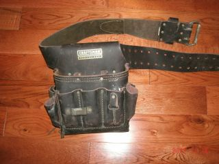 Craftsman Professional Leather Electricians Pouch and Belt Used