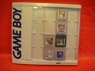 NINTENDO GAME BOY CARTRIDGES GAMES & ASCII SHOWCASE SYSTEM HOLDER