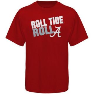 Alabama Crimson Tide Roll Tide Roll Slogan T Shirt Crimson