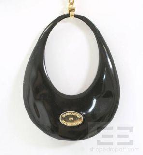 Alexis Bittar Purple Lucite Gold Chain Pendant Necklace