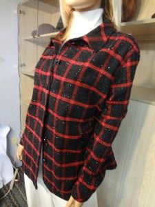 Mint ALLISON DALEY II Black Metallic & RED Large CHECK HOLIDAY Dress
