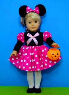 Mouse Halloween Costume for American Girl or Other 18 inch Doll