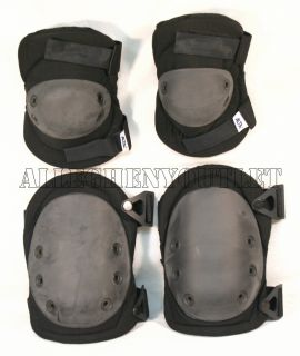 USGI MILITARY ARMY ALTA Lok Black Tactical Superflex KNEE & ELBOW PAD