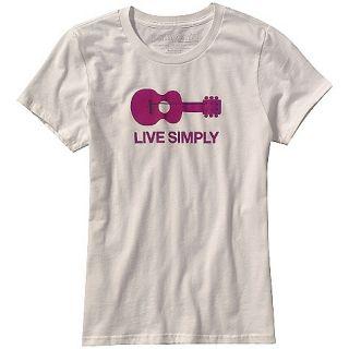 Patagonia Live Simply Guitar T Shirt Womens Large