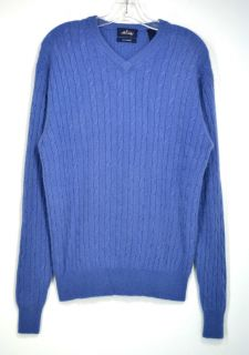 Allen Solly 100 Cashmere V Neck Cable Knit Sweater M