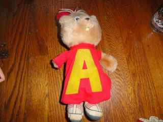 Vintage 1983 CBS Toys stuffed plush toy of ALVIN from Alvin and the