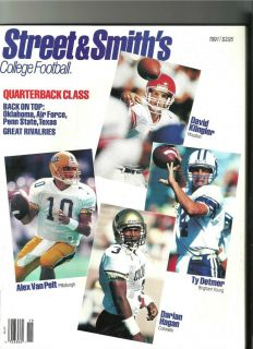 College Football Yearbook Ty Detmer David Klinger Alex Van Pelt