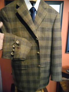 Alfred Dunhill Hand Made in Italy Plaid Sport Coat Blazer Rare