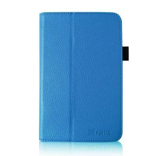 Blue PU Leather Folio Case Cover Stylus for Google Asus Nexus 7 7