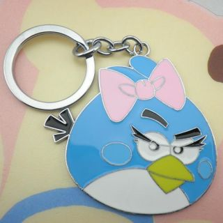Keychain Keyring Angry Birds Toy Kids Favour Gift Blue Lady