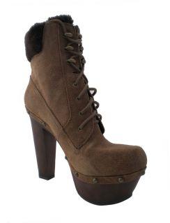 Jessica Simpson Alfie Brown Suede Platform Boots