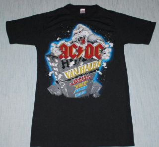 VTG ACDC MONSTERS OF ROCK ANIVERSARY SHIRT 1984 L